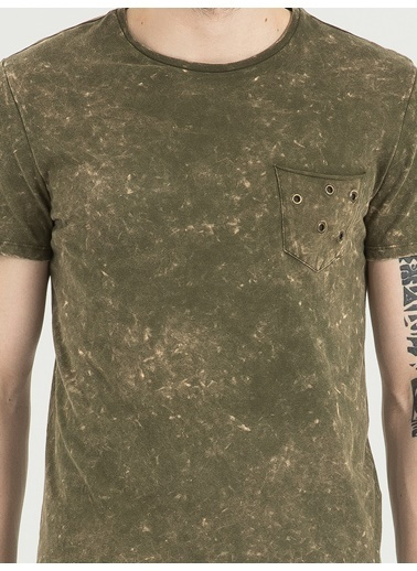 Loft Desenli T-Shirt Haki